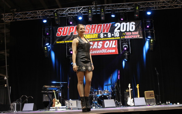 <p>No bike show is complete without a fashion show, and there was plenty of biker gear to be found at the Supershow. You can never have too much leather with a motorcycle.</p>
