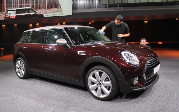 <p>We're also getting this longer wheelbase edition of the Mini Clubman. Its extra 10 cm of length makes it the longest production Mini ever made. It still has the distinctive double-doors of the current generation at the rear.</p>
