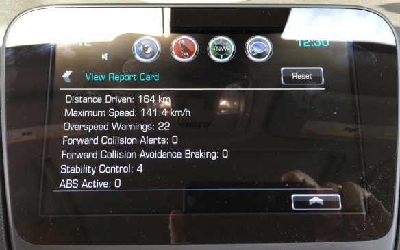 <p>The results are posted in a report card displayed on the centre stack screen. The system also issues a visual and audible warning when the driver exceeds the preset speed limit. It can also limit the volume level of the audio system to a preset point and mutes the audio system until the seatbelts are fastened. It automatically activates safety features such as traction control and stability control and does not allow the systems to be disengaged – a real spoiler for drifting. Rather than pitching Teen Driver as a nanny for teen drivers, GM says parents can apply it in a positive manner as a teaching tool, reviewing the report card with the young driver to help him/her improve their driving skills. Sounds like a life saver to me.</p>