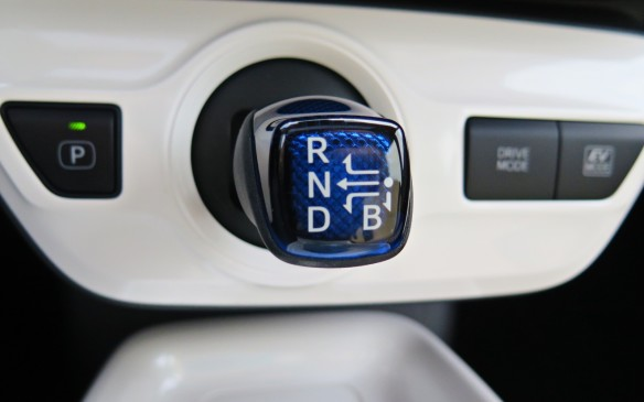 <p>The gearshift has been moved to below the centre stack and sticks out from the instrument panel at a 90-degree angle.</p>