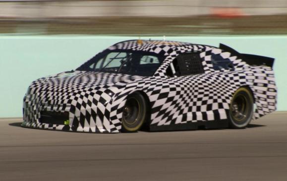 Camouflaged Chevy SS NASCAR racecar