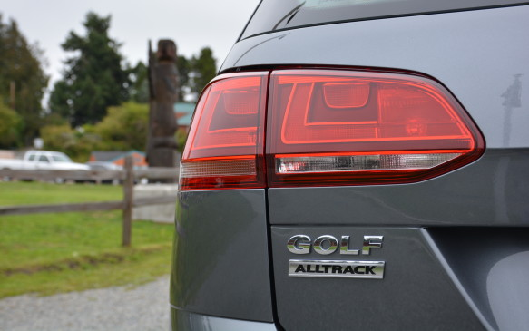 <p>When a new vehicle or trim model becomes available, you have to slap a badge on it. The Alltrack name can be seen in the front grille and beside the taillights in the rear.</p>