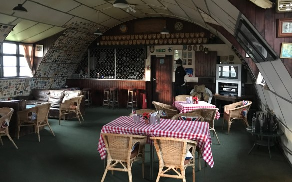 <p>North Weald is a working airfield, but there are still some areas from the Battle of Britain that have been preserved, like this old mess hall.</p>