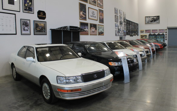 <p>The collection has a special area set aside for Lexuses (Lexi?) built over the years – Toyota's premium brand.</p>