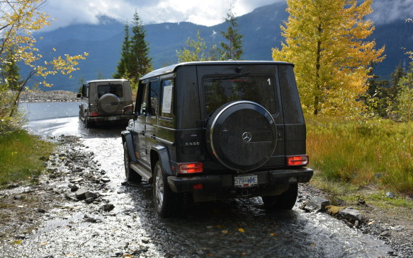 <p>This program wasn't about driving on regular roads, as we went on a five-hour journey through the Callaghan Valley trails, 15 minutes west of Whistler. Callaghan Valley is where Mercedes-Benz takes many of its global G-Class customers for a little adventure.</p>