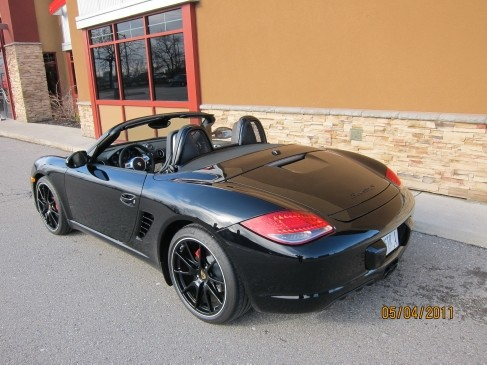 Porsche Boxster 2011 Black edition rear