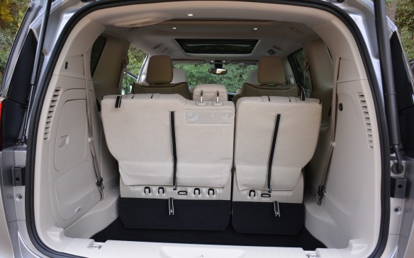 <p>Even though this Pacifica has a battery pack installed, it doesn't compromise any of its cargo space. With seven seats, the Pacifica Hybrid still has the largest interior volume in the segment and both back rows can still be removed or folded down for ample cargo space.</p>