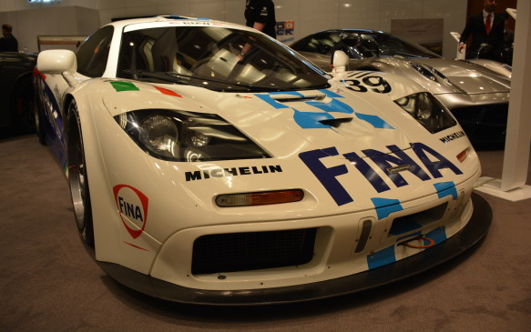<p>This McLaren F1 GTR, also found in the AutoExotica display in the North building, is the same car used for the 1996 24 Hours of Le Mans by the driving team of Nelson Piquet, Johnny Cecotto and Danny Sullivan. That team didn't win, but the inaugural year of this epic vehicle did win the 1995 24 Hours of Le Mans.</p>