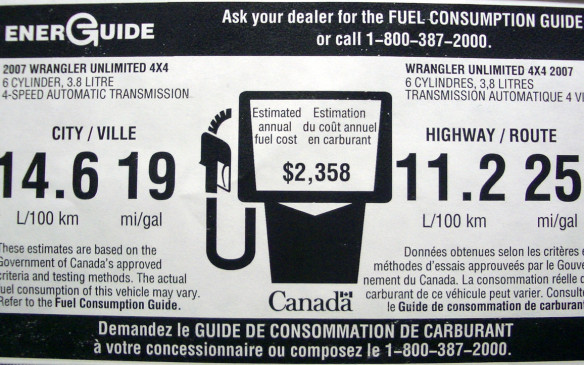 "<p>Use the Natural Resources Canada <a href=""http://www.nrcan.gc.ca/energy/efficiency/transportation/cars-light-trucks/buying/7487"">EnerGuide Fuel Consumption Guide</a> to help you make a decision when shopping for a new vehicle. While the fuel consumption numbers found there may not reflect exactly what you will experience in your particular geographic area or your own driving routes or style, they serve as an excellent way to compare vehicles. </p>"