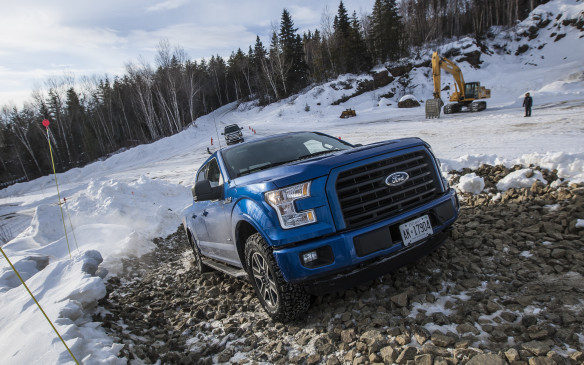 <p>The test drive fleet included this F-150 powered by Ford's all-new 2.7-litre EcoBoost V-6 engine, which uses twin turbochargers, an intercooler and sequential direct fuel injection to pump out an impressive 325 horsepower and 375 lb-ft of torque. It's the latest addition to the F-150 engine lineup, which also includes the naturally aspirated base 3.5-litre V-6 (283 horsepower, 255 lb-ft of torque), the trusty, naturally aspirated 5.0-litre V-8 (385 horsepower and 387 lb-ft of torque) and the high-output, 3.5-litre EcoBoost V-6 with twin turbos, an intercooler and sequential direct injection to generate 365 horsepower and 420 lb-ft of torque.</p>