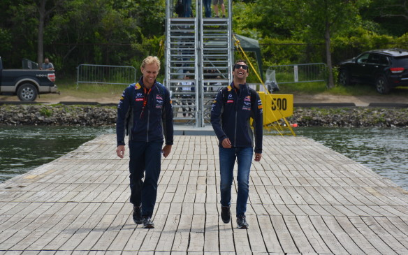 <p>It's always a special part of Sunday morning to see the drivers arrive. Most of them park their respective vehicles across the Olympic Basin and walk the plank on route to the paddock area. It's a great chance to grab a look at your favourite drivers before they get into race mode.</p>