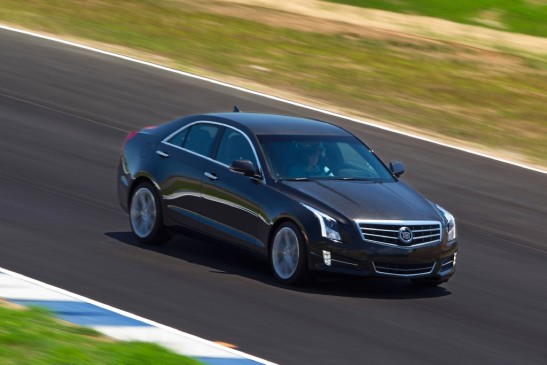 2013 Cadillac ATS - front 3/4 motion on track