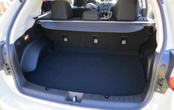 2013 Subaru Crosstrek - cargo area, rear seatbacks up