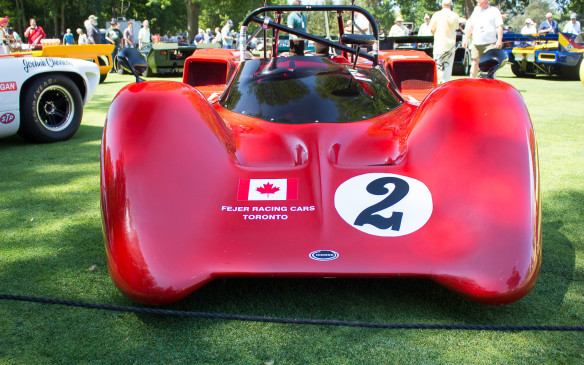 <p>Canadian race fans of a certain vintage will recognize this 1967 Chinook MK.5 Can-Am car. Built by the Fejer brothers, Rudy and George, of Toronto, the Chinook competed in multiple Can-Am races, including the series' first race at Mont Tremblant, Quebec, in 1967.</p>