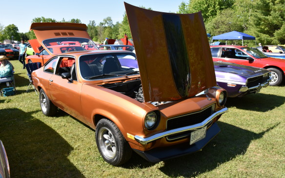 <p>1971 Chevy Vega - with 305 cubic-inch V-8 engine!</p>