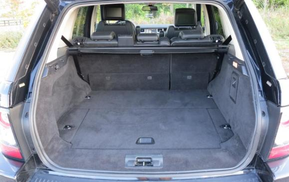 2012 Range Rover Sport - cargo area seatbacks folded