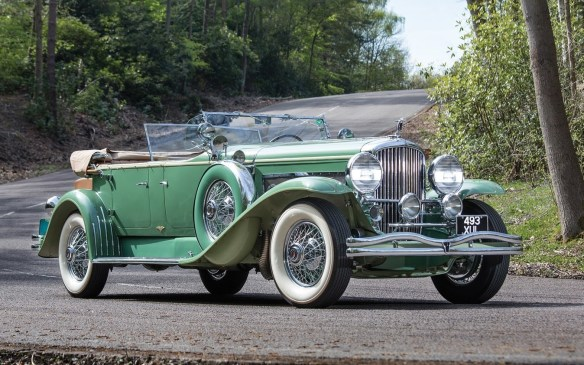 <p>There weren't as many cars from the Grand Classic era as are sometimes offered, but one of those crown jewels was this 1931 Duesenberg Model J Tourster by Derham, which sold for $1,320,000.</p>