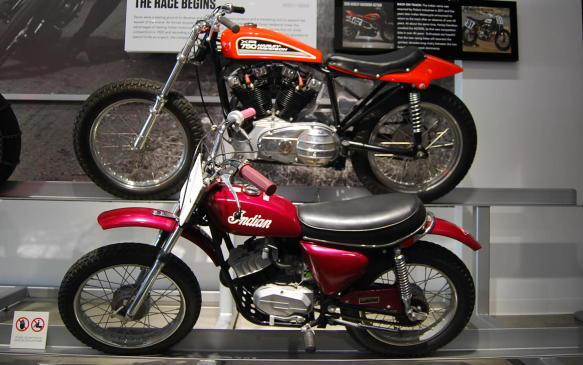 <p><strong></strong></p> <p><strong>Let The Races Begin:</strong> Both Harley-Davidson and Indian made competition motorcycle models available to privateers in an effort to capitalize on public interest.</p> <p>Harley-Davidson developed the XR-750 to maintain its competitive edge following an American Motorcycle Association rule change. The XR-750 had a more efficient overhead-valve engine than the competition enabling it continually to win over rival firms with similar engines.</p> <p>In 1970, Harley-Davidson introduced what would be a very uncompetitive Sportster-derived XR-750. By 1972, the engineering flaw that allowed the previous version to overheat had been corrected and the XR-750 went on to become one of the most successful race machines in AMA history.</p> <p>***</p> <p><strong>Going Off-Road:</strong> While working with the Indian trademark in 1970, Los Angeles attorney Alan Newman continued importing and rebranding bikes built by Italian motorcycle manufacturer Italjet Moto.</p> <p>In 1971, Newman contracted with a manufacturer to build a lineup of Indian dirt bikes and quickly purchased a factory in Taiwan to house production.</p> <p>Minarelli, Morini and Fuji were two-stroke engines ranging in displacement from 50cc to 175cc, but their sluggish sales forced the company to file for bankruptcy in 1977, and Indian was once again taken over by another firm, American Moped Associates.</p>