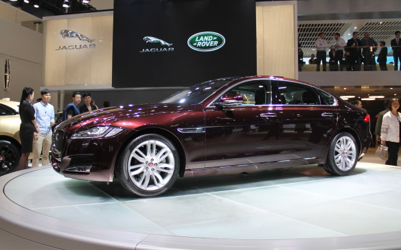 <p>Jaguar also showed off a stretched XF that's just for the local market.</p>