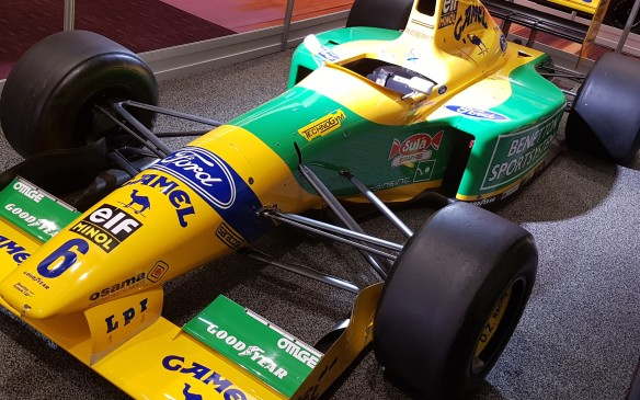 <p><strong>A win in Canada - </strong>The Benetton B191 is on loan to the Canadian International AutoShow courtesy of the Indianapolis Motor Speedway Museum. Though Schumacher won a record seven times on Canadian soil, he never raced this car in Canada. However, Nelson Piquet drove its sister car to what would ultimately become the only win for the Benetton B191 at the Canadian Grand Prix in 1991.</p>