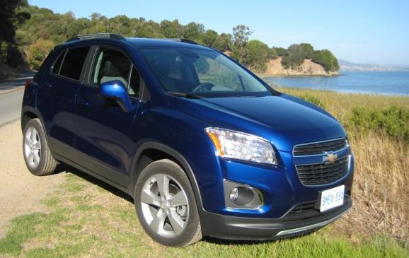 2013 Chevrolet Trax - front 3/4 view, coastal