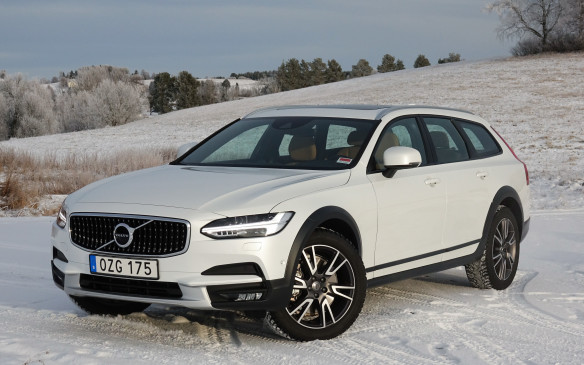 <p>It's built on the same Scalable Product Architecture (SPA) platform as Volvo's award-winning XC90 luxury sport-utility and both the recently-introduced V90 wagon and S90 sedan. Apart from a notably taller profile than its V90 wagon sibling, the Cross Country can be recognized instantly by its exclusive grille featuring black vertical bars with five chrome dots each, by the charcoal-coloured wheel arch extensions that cover its larger wheels and wider tracks, by the similarly-dark lower portions of its sides, doors and bumpers, by the high-gloss, piano-like black trim around its windows and by side mirrors that are slightly larger than the V90's. Alas, they hamper the driver's view to the inside in left turns.</p>