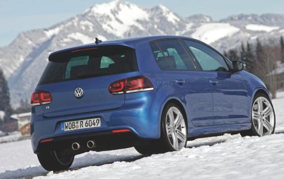 2012 Volkswagen Golf R -rear 3/4 view