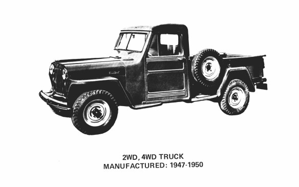 <p>From the beginning, Jeeps were practical work vehicles, so a pickup truck was a natural evolutionary branch from the CJ for farm use, beginning in 1947.</p>
