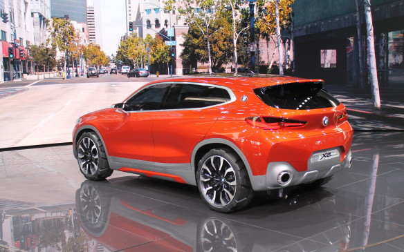 <p>BMW's new small SUV, the X2, also broke cover at the show. It's officially still a concept, but the production version will be very similar when it appears as a 2018 model. The X2 is intended to be a sportier version of the similarly-sized X1.</p>