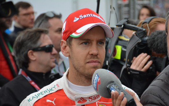 <p>Starting third on the grid was four-time champion Sebastian Vettel, whose Ferrarii seems to be have closed the gap on the pace-setting Mercedes cars.</p>