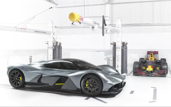 <p><strong>Aston Martin AM-RB001 –</strong> Put Aston Martin and Red Bull Racing together, and this is the result: a head-spinning hypercar. This brain child of legendary former Formula 1 engineer Adrian Newey and Aston Martin's Chief Creative Officer Marek Reichman is headed for bespoke production in both road- and race-going versions sporting a mid-mounted naturally aspirated V-12 engine and a 1:1 (hp/kg) power to weight ratio.</p>