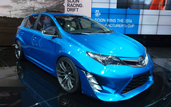 <p><strong>Scion iM Concept –</strong> Wondering what Scion will replace its xB and xD hatchbacks with? This Toyota Corolla-based iM Concept (in essence a rebadged European Toyota Auris five-door hatchback) is a great first clue. Its ultra-low stance and extra-wide fenders and body kit will probably be absent from the production model but, given that it'll be a Scion, there's a good chance they'll be available to add afterwards.</p>