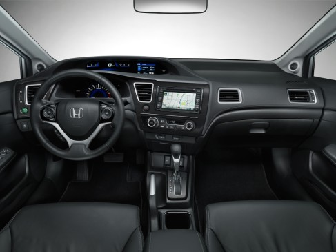 2013 Honda Civic sedan - front interior
