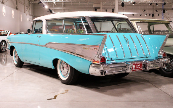 <p>Among Chevrolet's more successful models is this 1957 Nomad wagon, the last of the classic tri-five, two-door sports wagons to carry the name. And still one of the most attractive station wagons ever!</p>