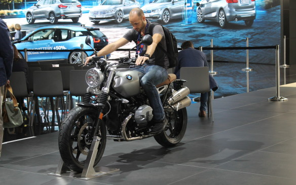 <p>The Paris show wasn't just about the cars. Some of the manufacturers had motorcycles on display, too, like the gorgeous BMW R Nine T Scrambler.</p>