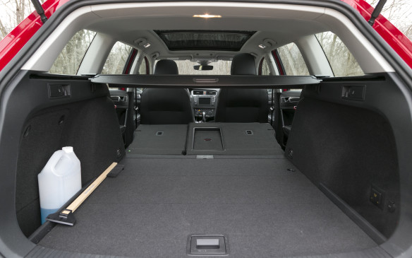 <p>Wanna talk actual numbers?  Cargo capacity in the VW starts at 861 litres behind the back seat and expands to a maximum of 1,883 litres with the second row folded down.</p>