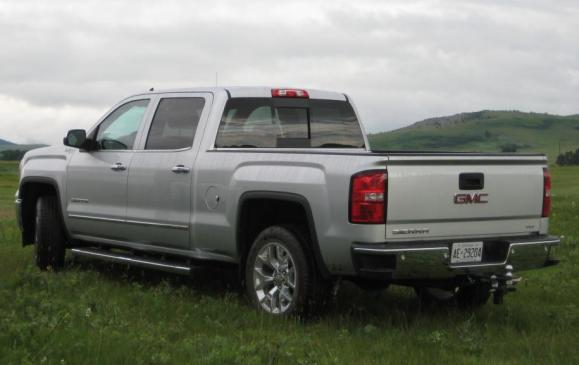 2014 GMC Sierr SLT - rear 3/4 view