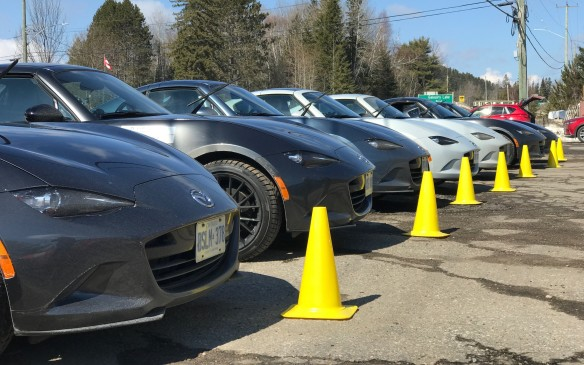 <p>The cars were cleaner today and the weather was gorgeous. Still only a few degrees above freezing, but clear skies and still wind – when we were parked, at least. Most of the other teams had their tops down all the way.</p>