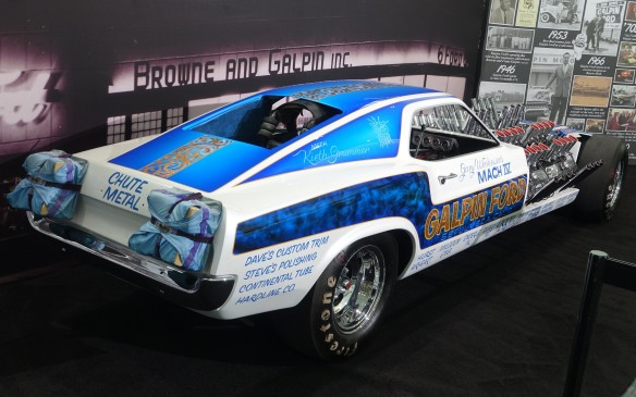 <p>This mega-Mustang was a show car but it still routinely topped 305 km/h (190 mph) in the quarter mile and even 320 km/h (200 mph) once. The two parachutes above the rear bumper aren't there just for show.</p>