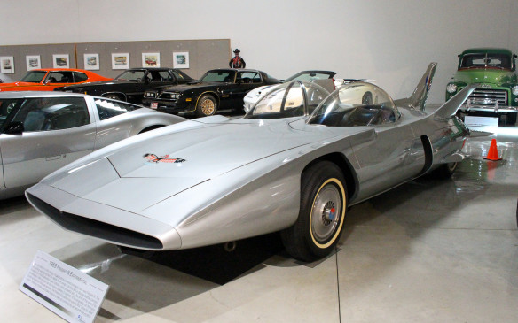 <p>Firebird III, displayed at GM's Motoramas in 1959, is arguably the most extravagantly designed concept car ever, with no fewer than seven wings and fins. Its space-age innovations included air-drag brakes, like airplane flaps, and an early form of anti-lock brakes. Adding to its aircraft persona, the driver controlled it with a joystick and a drive-by-wire system rather than a steering wheel.</p>