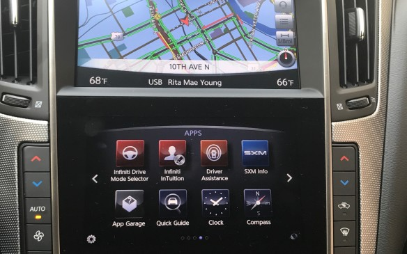<p>Unfortunately, there's no Apple CarPlay or Android Auto to hook up to your cell phone and keep it out of temptation, though the Q50 is fully connected otherwise to your phone.</p>