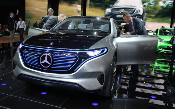<p>Mercedes-Benz also debuted its latest line of all-electric cars, called EQ. Mercedes announced it will manufacture at least another 10 all-electric vehicles by 2025, and expects 25%of its sales then to be powered by electricity.</p>