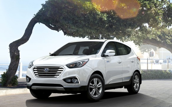 <p>The first fuel-cell vehicle available to the Canadian public, the Tucson FCEV is available in limited numbers only in the Vancouver area. A three-year lease includes maintenance and unlimited hydrogen refueling during that period.</p>