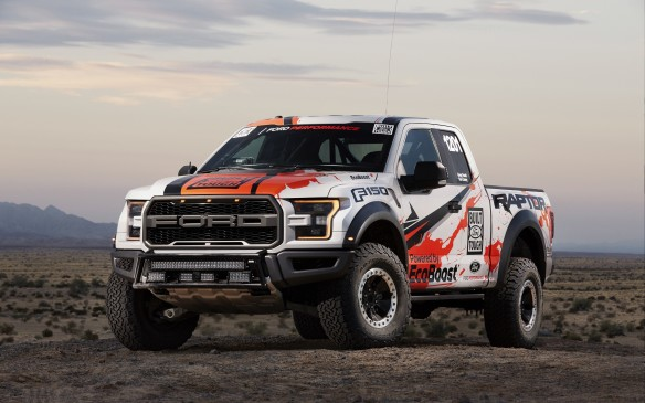 <p>Ford Performance pushed it a notch further by entering a 2017 Raptor that was virtually identical to the production truck that rolls out of the Dearborn, Michigan factory in the granddaddy of desert races: the legendary Baja 1000. Apart from mandatory racing and safety-specific equipment, this Raptor ran and finished the gruelling, 1,600 km (1,000-mile) event with the stock engine, transmission, suspension, wheels and BFGoodrich K02 tires. And then, driver Greg Foutz drove it home from the finish in Mexico for an extra 644 kilometres.</p>