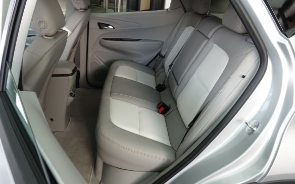 <p>Unlike many compact cars and more than a few larger ones, the Bolt EV has a rear seat that is entirely comfortable for two fully-grown adults. And unlike its close cousin, the Volt, the middle perch can also be of some use, thanks to a perfectly flat floor.</p>