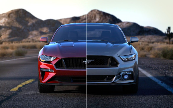 <p>The hood is 25 mm lower at the front than before, but the hood scoop vents were a special challenge to design. They must be effective, but they must not, by law, cause additional injury if the car should hit a pedestrian. The previous Mustang was not exported with hood vents because they couldn't meet international safety requirements.</p>