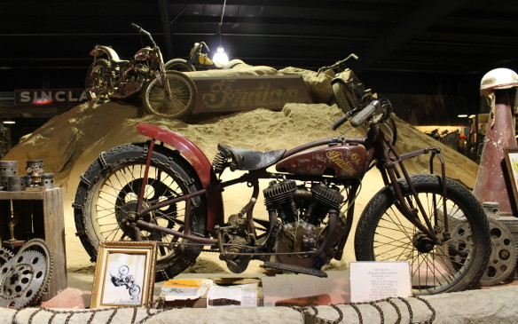 <p>And this hill-climber, a 1928 Indian Altoona. It was ridden on the west coast in the late 1920s and '30s out of Guy Uruquart's shop in San Diego.</p>