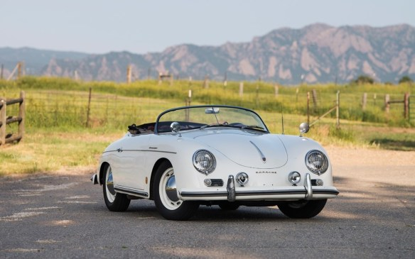 <p>From Germany, there's this iconic 1956 Porsche 356 A 1600 Speedster by Reutter – the car that began a dynasty. Unlike most such models that have been painstakingly restored, this one is largely original and lovingly maintained from new for more than half a century. It should be full value for its expected price of <strong>$400,000-$450,000</strong> (USD) at RM Sotheby's.</p>