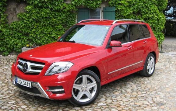 2013 Mercedes-Benz GLK - front 3/4 high