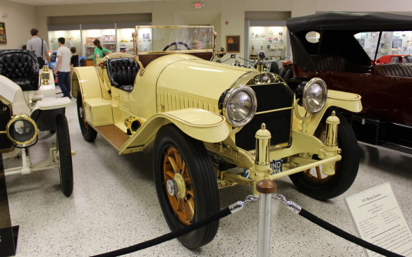 <p>While race cars make up the bulk of the museum's collection, there are production cars there too – most of them with some connection to the race or at least to the state of Indiana. Cars like this 1914 Marmon Roadster, which has both.</p>